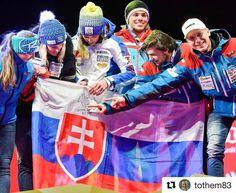 """Obrovska hrdost na to ze som Slovak pri pohlade na nasich striebornych lyziarov! Navyse s vlajkou s mojim podpisom ktorá bola """"osobne"""" pri mojom úspechu v Riu! @tothem83 #slovakia #slovensko #praveslovenske #win #success #sport"""