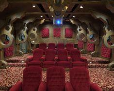Submarine Theater Room Design Idea