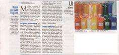 """Artículo publicado en el Períodico """"El Día"""" de la ciudad de Santa Cruz, Bolivia, Sección Portafolio, con referencia al emprendimiento de Creaciones Anykar!"""