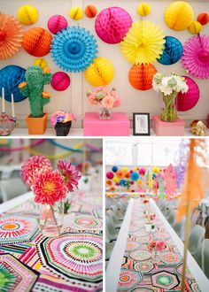 Day of the Dead 30th Birthday Party Ideas - Pretty My Party #fiesta #colorful #party #Mexican #dayofthedead #30