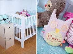 Sort of pink.: Baby room / work space.
