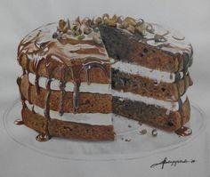 Chocolate Cake Drawing by kajoycyrus.deviantart.com on @DeviantArt