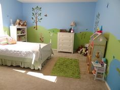 Beautiful Forest Farm Wall Murals Stickers for Kids Bedroom Wall Decorating Designs Ideas