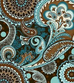 love the colors and pattern. Paisley!