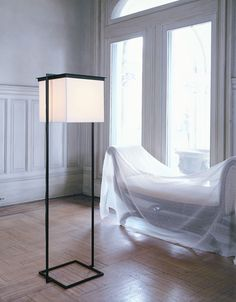 contemporary fabric floor lamp PLEIN  Kevin Reilly  Lighting