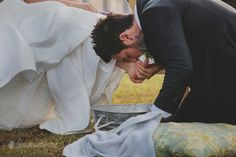washing feet wedding  // Lime Green Photography