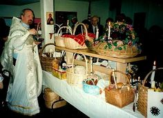 Blessing of the Pascha baskets - I can't wait to see all our baskets!