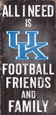 """~Kentucky Wildcats Wood Sign - Football Friends and Family - 6""""x12""""~backorder"""