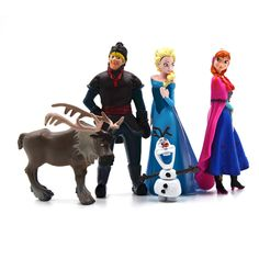 ディズニーhot toys用キッドファッション冷凍5ピースセットアクションフィギュア王女エルザアンナ王子アニメフィギュアjuguetes ty064