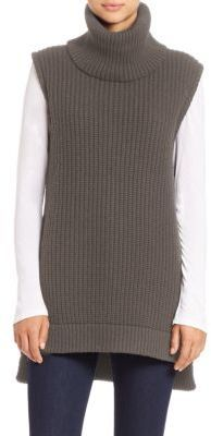 Saks Fifth Avenue Collection Sleeveless Chunky Turtleneck Sweater