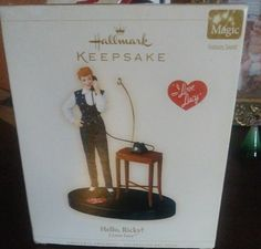 I Love Lucy talking Christmas ornament from Hallmark still in box works great nothing wrong with it this is a collector's item I Love Lucy, My Love, Hallmark Christmas Ornaments, Box, Products, Boxes, Gadget