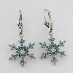 Items similar to Winter Snowflake Earrings set in Gold with Diamond Accents on Etsy Snowflake Jewelry, Earring Set, Belly Button Rings, Snowflakes, White Gold, Etsy Shop, Jewels, Trending Outfits, Diamond