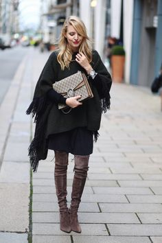 FRINGE PONCHO & OVERKNEES ohh couture waysify