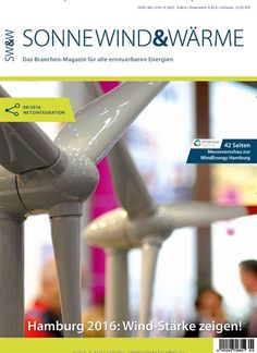 #WindEnergy Hamburg 2016: #Messevorschau 🌬  Jetzt in Sonne, Wind & Wärme, Ausgabe 9/2016.  #Windenergie #erneuerbareEnergie #Windkraft