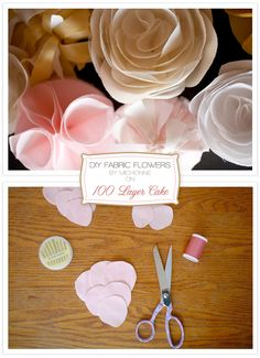 DIY Fabric Flowers from Michonne + 100 Layer Cake - Home - Creature Comforts - daily inspiration, style, diy projects + freebies