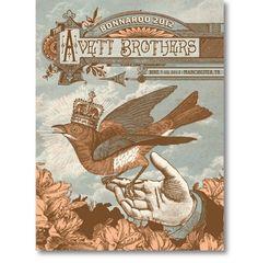 Avett Brothers - Bonnaroo 2012 by Status Serigraph