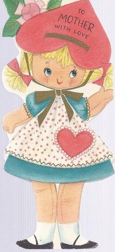 Vintage 50's Hallmark Valentine's Day card.
