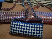 Recycled gum and candy wrapper Purses