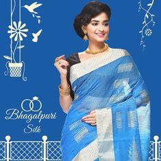 Find the latest Bhagalpuri at an amazing price from Silk Sarees Online, Mahatma Gandhi, Online Collections, Saree Collection, Silk Fabric, Sari, Amazing, How To Wear, Color