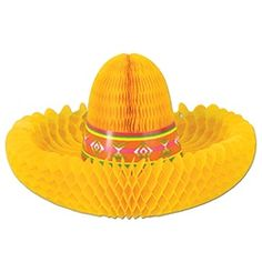 Party Supplies | Cinco de Mayo Decorations | Fiesta Centerpiece | Sombrero Decoration...Grab this sombrero and throw it on your table - it's fiesta time! Every table at your Cinco de Mayo party needs a splash of color that will enhance your theme, and these Fiesta Centerpieces are sure to get the job done.