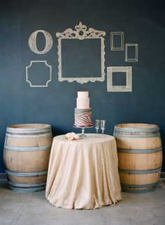 Lovey chalkboard backdrop with hand drawn frames!