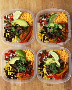 Portobello Fajita Bowl Meal Prep Recipe by Tasty