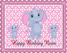 Who doesn't like the #babyDumboelephant? This #birthdaycaketopper would be the perfect for a boy or girl celebrating their first birthday. Cut out silhouettes of velvety smooth textures and cute sculpted character finishes the top of tier of this Dumbo 2 themed birthday.