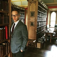 """New pic of Tom Wlaschiha on the set """" Thanks for the memories in Oxford! @tomwlaschiha IG ・・・ Feel of the day : Hogwarts #thanksforthememories #zdf #gatefilm #oxford #england#harrypotter @burberry"""