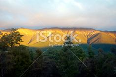 Evening Light on the St Arnaud Ranges, Nelson Lakes, NZ Royalty Free Stock Photo