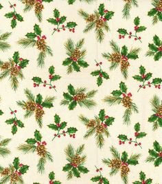 Home For The Holidays BTY Nancy Fullenwider QT Christmas Cardinal Green