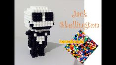 3D Hama Beads Jack Skellington The Nightmare Before Christmas assembly