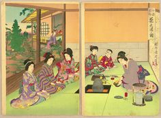 Toyohara Chikanobu: Tea Ceremony