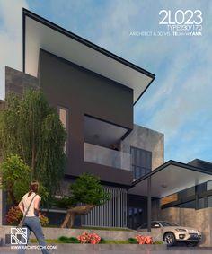 2L023 Desain Rumah 2 Lantai Type 230