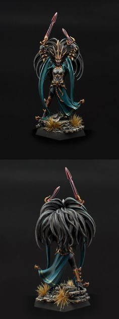 Warhammer FB | Dark Elves | Dark Elve Queen of Blades #warhammer #ageofsigmar #sigmar #wh #whfb #gw #gamesworkshop #wellofeternity #miniatures #wargaming #hobby #fantasy