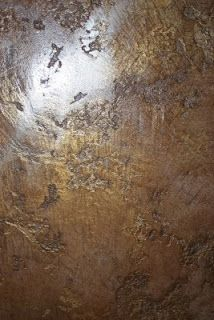(Old World Venetian Wax over Stucco Lustro and burnished in Gold Mica Powder)