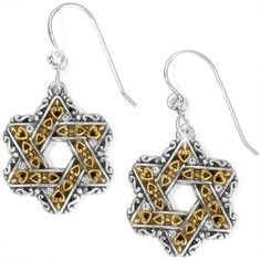 Brighton Star of David French Wire Earrings