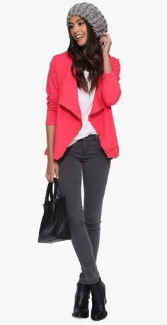 Beloved Fall Jacket in Coral