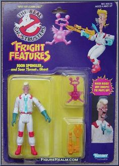 The Real Ghostbusters with Fright Features - Egon Spengler and Soar Throat Ghost Ghostbusters Toys, The Real Ghostbusters, Retro Toys, Vintage Toys, 1980s Toys, Childhood Toys, Childhood Memories, Die Geisterjäger, Thundercats