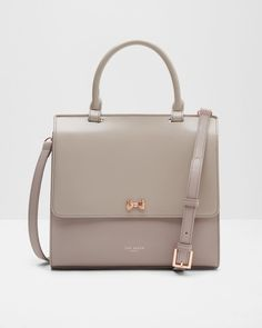 Top handle leather bag - Mid Purple | Bags | Ted Baker UK