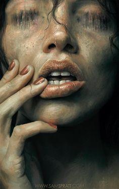 """Eaten"" by Sam Spratt #macabre #art"