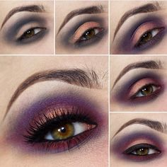 In love with step by step tutorial using Melt Cosmetics Love Sick stack! Purple Eyeshadow Looks, Bright Eyeshadow, Gray Eyeshadow, Eyeshadow Ideas, Eyeshadow Tutorials, Bright Eye Makeup, Colorful Eye Makeup, Simple Makeup, Melt Cosmetics