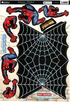 T T spiderman Boy Cards, Kids Cards, Image Stitching, Image 3d, 3d Sheets, Disney Cards, 3d Paper Crafts, Boy Decor, Spiderman