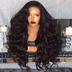 Big Body Wave Full Lace Wig 180 Density Human Hair Wigs for Black Women Hair Laid, Black Girls Hairstyles, Human Hair Extensions, Weave Hairstyles, Human Hair Wigs, Hair Looks, Lace Wigs, Her Hair, Hair Inspiration