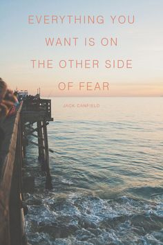 Fear has the ability to overpower our lives and leave us in a perpetual state of inaction where we don't move forward because we're too afraid of what might be. Fear can also be a good thing. A different view of it is to see it as a way to force you to grow and do things that push you out of your comfort zone. Today I challenge you to doing one thing that you've been putting off but deep down know you really want to do xx
