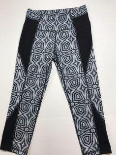 559688844f Athleta Capri Black White Gray Crop Tight Legging Size S Free shipping 1010  #Athleta #