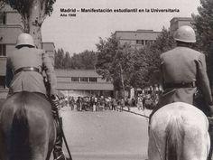Madrid – Manifestación estudiantil en la Universitaria Año 1968
