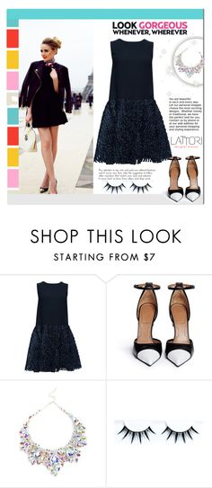 """""""Lattori Dress #23"""" by cherry-bh ❤ liked on Polyvore featuring Lattori, Louis Vuitton, Givenchy, dress, dresses and lattori"""