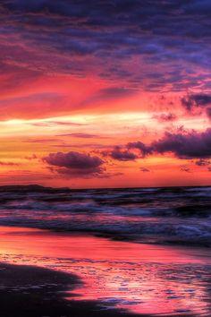 Baltic sunset  (by Aleksei Malygin on 500px)