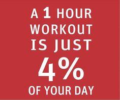 1 hour = 4 percent