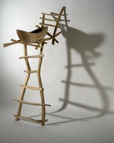 """Journeys 2 by Lin Lisberger. From the blog """"I am drawn to the ladder for its symbolism .... it's shape .... the rhythm created by the rungs .... as well as the memories attached."""""""